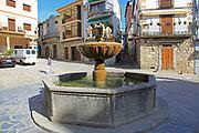 Water fountain in village centre of Jarandilla de la Vera, La Vera, Extremadura, Spain