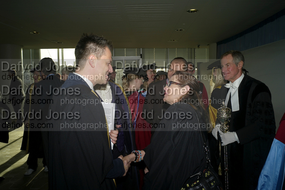 MICHAEL BRANDAGE; CARRIE FISHER, . Central School of Speech and Drama presents Honory Fellowships to Carrie Fisher, Bette Bourne, Joseph Selig and Helen Lannaghan. Royal Festival Hall. London. 12 December 2011.