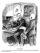 """""""S.O.S."""" Punch (to Mr. Marconi). """"Many hearts bless you to-day, sir. The world'd debt to you grows fast."""""""