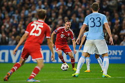 Bayern Midfielder Franck Ribery (FRA) in action during the second half of the match - Photo mandatory by-line: Rogan Thomson/JMP - Tel: Mobile: 07966 386802 - 02/10/2013 - SPORT - FOOTBALL - Etihad Stadium, Manchester - Manchester City v Bayern Munich - UEFA Champions League Group D.