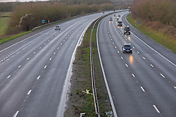© Licensed to London News Pictures. 20/12/2020. <br /> Swanley, UK. A quiet M25 this morning near Swanley in Kent on the last Sunday before Christmas as people in the South East and London come to terms with tier four Cornavirus restrictions. Photo credit:Grant Falvey/LNP