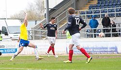 Falkirk's Sean Higgins scoring their fourth goal..Falkirk 4 v 1 Morton, 4/5/2013..© Michael Schofield..