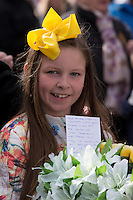 Megan Ward during the Easter Monday 1916 commemorations in Dublin<br />Pic:Mark Condren<br />28.3.2016