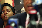 Nicole Paultre Bell at The Rev. Al Sharpton and The National Action Network announcement of plans and strategies for political boycotts, demonstrations and civil disobedience in response to Sean Bell Not Guilty Verdict held at 1199 SEIU on April 29, 2008