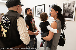 Art and Wheels art and motorcycle show in the M45 gallery in Basel, Switzerland. May 16, 2015. Photography ©2015 Michael Lichter.