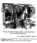 """Winning entry Caption Competition No 134, 10 November 1971: """"I'll say this for that Tarzan fellow, he certainly knew how to build a tree-house."""" A R Green of Exeter, Devon."""