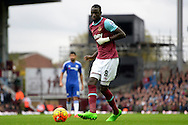 Cheikhou Kouyate of West Ham United in action. Barclays Premier League, West Ham Utd v Chelsea at The Boleyn Ground, Upton Park in London on Saturday 24th October 2015.<br /> pic by John Patrick Fletcher, Andrew Orchard sports photography.