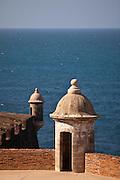 Parapet Castillo de San Cristóbal Old San Juan, Puerto Rico.