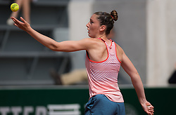 May 23, 2019 - Paris, FRANCE - Elsa Jacquemot of France in action during the second qualification round at the 2019 Roland Garros Grand Slam tennis tournament (Credit Image: © AFP7 via ZUMA Wire)