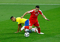 Casemiro (Brazil) and Aleksandar Kolarov (Serbia) <br /> Moscow 27-06-2018 Football FIFA World Cup Russia  2018 <br /> Serbia - Brazil / Serbia - Brasile<br /> Foto Matteo Ciambelli/Insidefoto