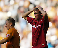 Photo: Jed Wee/Sportsbeat Images.<br /> Hull City v Norwich City. Coca Cola Championship. 25/08/2007.<br /> <br /> Norwich's Chris Brown shows his disappointment at the end of the game.