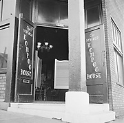 Y-580916-10.  New Old Lompac Tavern, 2701 SW 1st, corner of Arthur St., man entering front door. October 16, 1958