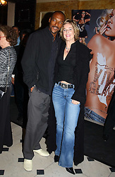 Actor COLIN SALMON and FIONA HAWTHORNE at a party to celebrate Pamela Anderson's new role as spokesperson and newest face of the MAC Aids Fund's Viva Glam V Campaign held at Home House, Portman Square, London on 21st April 2005.<br /><br />NON EXCLUSIVE - WORLD RIGHTS