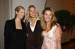 Left to right, DARCY SHAW, MRS SEB BISHOP she was model Heidi Wichlinski and TANA RAMSAY wife of chef Gordon Ramsay<br /><br />at a party to celebrate the 10th anniversary of Jo Malone the perfumer held at The Banquetting House, Whitehall, London on 21st October 2004.<br /><br /><br /><br />NON EXCLUSIVE - WORLD RIGHTS