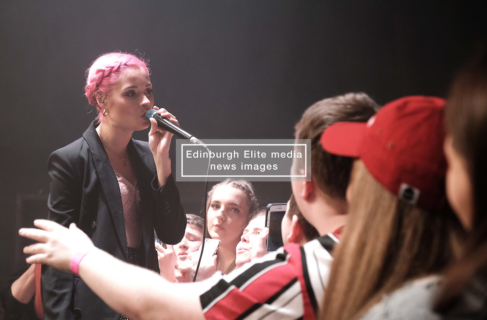 Nina Nesbitt at SWG3 in Glasgow as part of her 'The Sun Will Come Up' UK Tour 2019 <br /> <br /> Pictured: Nina Nesbitt and fans<br /> <br /> (c) Aimee Todd | Edinburgh Elite media