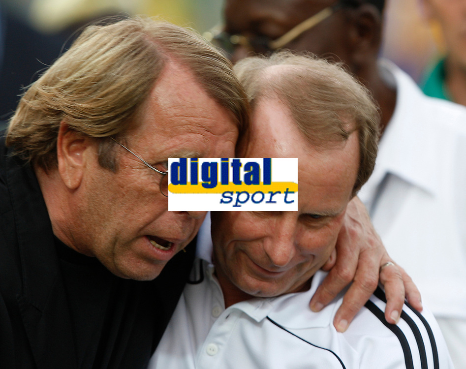Photo: Steve Bond/Richard Lane Photography.<br />Ghana v Nigeria. Africa Cup of Nations. 03/02/2008. Nigeria coach Bertie Vogts (R) and Ghana coach Claude Le Roy (L) together