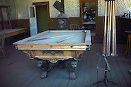 Dusty pool table in Ghost Town