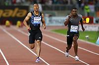 Jimmy Vicaut FRA, Justin Gatlin USA Winner 100m Men  <br /> Roma 02-06-2016 Stadio Olimpico.<br /> IAAF Diamond League 2016<br /> Atletica Legera <br /> Golden Gala Meeting - Track and Field Athletics Meeting<br /> Foto Cesare Purini / Insidefoto