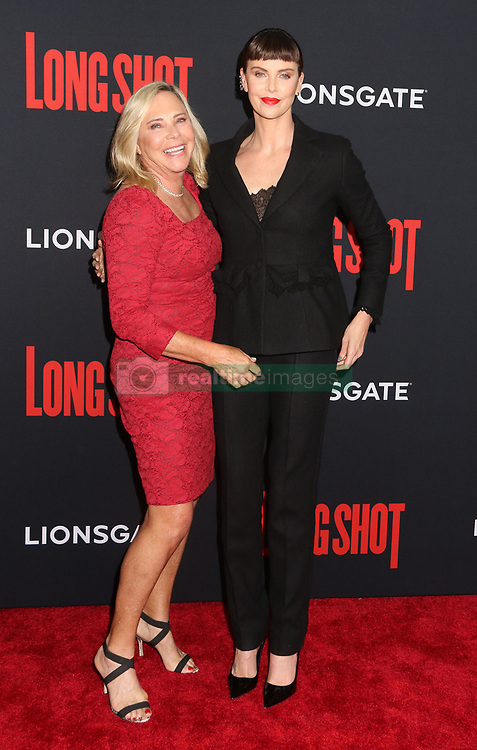 April 30, 2019 - New York City, New York, U.S. - Actor CHARLIZE THERON (R) and her mother GERDA JACOBA ALETTA MARITZ (L) attend the New York premiere of 'Long Shot' held at AMC Lincoln Square. (Credit Image: © Nancy Kaszerman/ZUMA Wire)