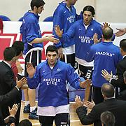 Anadolu Efes's Estaban Batista (F) during their Turkish Basketball league derby match  Fenerbahce Ulker between Anadolu Efes at Caferaga Sports Hall in Istanbul, Turkey, Saturday 01, 2012. Photo by TURKPIX