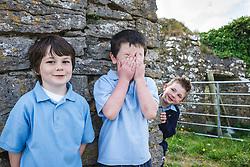 Irish schoolchildren, County Galway, Ireland