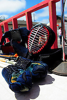 """A """"kendo"""" demonstration was part of the 2012 Obon Festival at the Buddhist Temple of Salinas."""