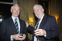 Hal Fitzgerald Commodore Wicklow Sailing, Theo Phelan Race Organiser at the launch of 18th Volvo 2016 Round Ireland Yacht Race which was held in the Royal Irish Yacht Club.<br />Photo Ann Egan