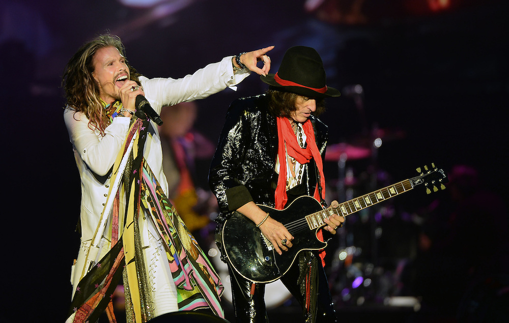 Download Festival    <br /> Aerosmith .Steven Tyler  , and Joe Perry <br /> Pix Dave Nelson