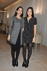 Left to right, YASMIN MILLS and her daughter LAUREN MILLS at a ladies breakfast hosed by At Last! held at Grace, 11c West Halkin Street, London on 29th January 2013.