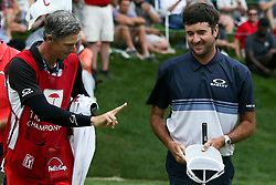 June 24, 2018 - Cromwell, Connecticut, United States - Bubba Watson (R) and his caddie Ted Scott on the 18th green during the final round of the Travelers Championship at TPC River Highlands. (Credit Image: © Debby Wong via ZUMA Wire)