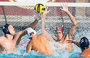 Mission Vejo, California -- Saddleback college waterpolo players compete the Saddlleback College
