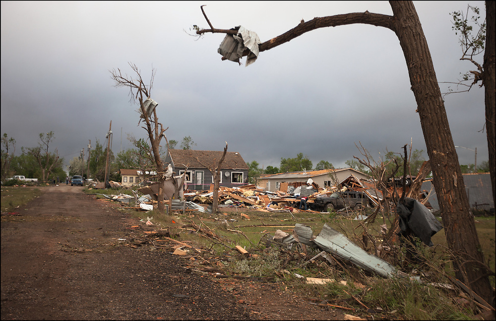 An EF-3 tornado ripped through Baker, Montana causing destruction to homes injuring multiple people.