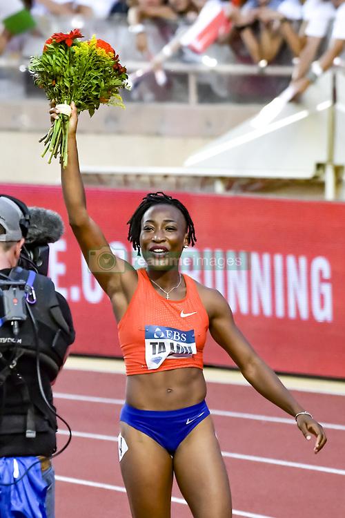 July 20, 2018 - Monaco, France - 100 metres femme - Marie Josee Ta Lou  (Credit Image: © Panoramic via ZUMA Press)