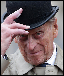August 2, 2017 - London, United Kingdom - PRINCE PHILIP, the Duke of Edinburgh, attending the Captain General's Parade as his final individual public engagement, at Buckingham Palace in London. The Duke meets Royal Marines who have completed a mammoth 1,664 mile trek on Wednesday - his final official royal event before he retires from public engagements. (Credit Image: © i-Images via ZUMA Press)