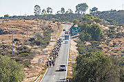 Mexican cowboys ride along a stretch of highway though the high desert to join the annual Cabalgata de Cristo Rey cowboy pilgrimage January 4, 2017 in Guanajuato, Mexico. Thousands of Mexican cowboys and horse come from all over to take part in the three-day ride to the mountaintop shrine of Cristo Rey.