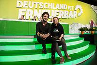 27 APR 2013, BERLIN/GERMANY:<br /> Felix Banaszak (L), Politischer Geschäftsfue1hrer Gruene Jugend, und Sina Doughan (R), Sprecherin Gruene Jugend, Bundesdelegiertenkonferenz Buendnis 90 / Die Gruenen, Velodrom<br /> IMAGE: 20130427-01-159<br /> KEYWORDS: Parteitag, Bundesparteitag, BDK, party congress, Bündnis 90 / Die Grünen, B90/Gruene, B90/Grüne