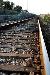 Ferrovia del Sud-Est Tratta Maglie-Gagliano nella vicinanze di Alessano (Macurano) 10/04/2010