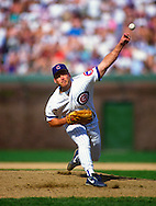 CHICAGO - 1997: Randy Myers of the Chicago Cubs pitches during an MLB game at Wrigley Field in Chicago, Illinois.  Myers pitched for the Cubs from 1993-1995.(Photo by Ron Vesely)