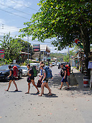 Canadian backpackers in Puerto Viejo, Limon, Costa Rica.