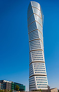 Turning Torso is a neo-futurist residential skyscraper in Sweden and the tallest building in Scandinavia. <br /> <br /> Located in Malmö on the Swedish side of the Öresund strait, it was built and is owned by Swedish cooperative association HSB. It is regarded as the first twisted skyscraper in the world.<br /> <br /> The project was designed by Spanish architect, structural engineer, sculptor and painter Santiago Calatrava and officially opened on 27 August 2005. The tower reaches a height of 190 metres (623 ft) with 54 storeys and 147 apartments.<br /> <br /> In August 2015, it was announced that the building was the winner of the 10 Year Award from the Council on Tall Buildings and Urban Habitat. It won the 2005 Gold Emporis Skyscraper Award.
