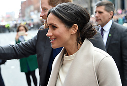 Meghan Markle during a walkabout in Belfast city centre