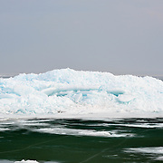 Blue Ice, A Spring Phenomenon In The Straits Of Mackinac