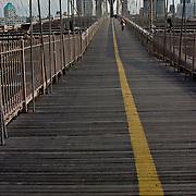 Footpath on the Brooklyn Bridge
