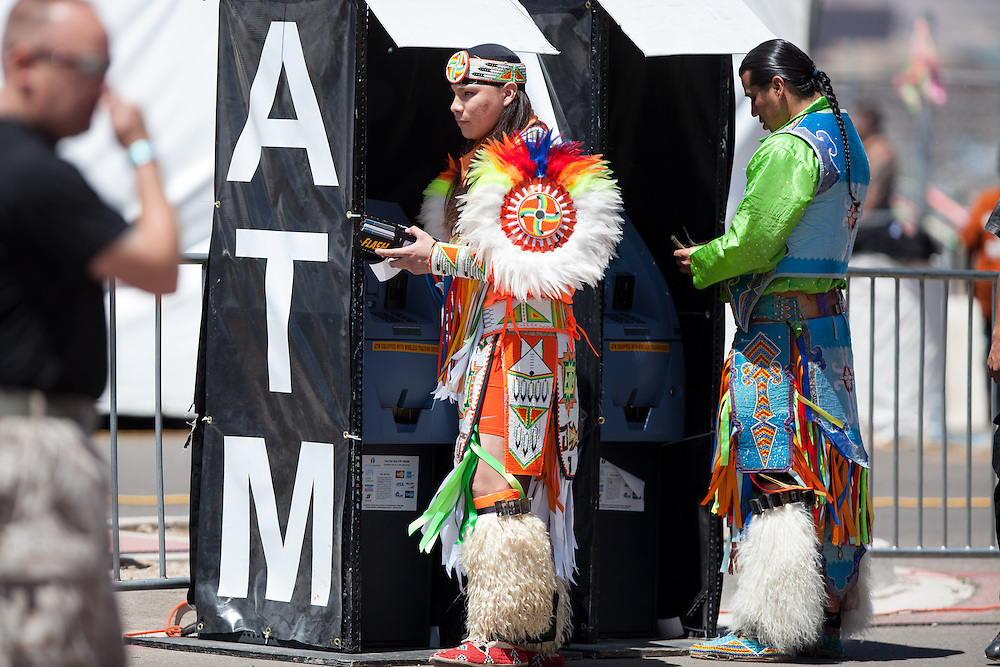 Over 3,000 indigenous / Native American / Indian dancers and Singers representing more than 500 tribes from Canada and the United States come to Gathering of Nations PowWow annually to participate socially and competitively in Albuquerque New Mexico.