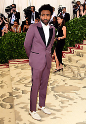 Donald Glover aka Childish Gambino attending the Metropolitan Museum of Art Costume Institute Benefit Gala 2018 in New York, USA.