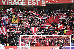 March 3, 2019 - Lille, France - ILLUSTRATION - SUPPORTERS - DRAPEAUX - ECHARPES (Credit Image: © Panoramic via ZUMA Press)