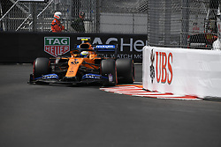 May 25, 2019 - Monaco, Monaco - English driver Lando Norris of English team McLaren F1 Team driving his single-seater MCL34 during the 90th edition of the Monaco GP, 6th stage of the Formula 1 world championship, in Monaco-Ville, Monaco  (Credit Image: © Andrea Diodato/NurPhoto via ZUMA Press)