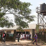 INDIVIDUAL(S) PHOTOGRAPHED: N/A. LOCATION: Epko Abasi Clinic, Calabar, Cross River, Nigeria. CAPTION: Two reservoirs serve the clinic and provide drinking water, thanks to a purification system with an electric pump.