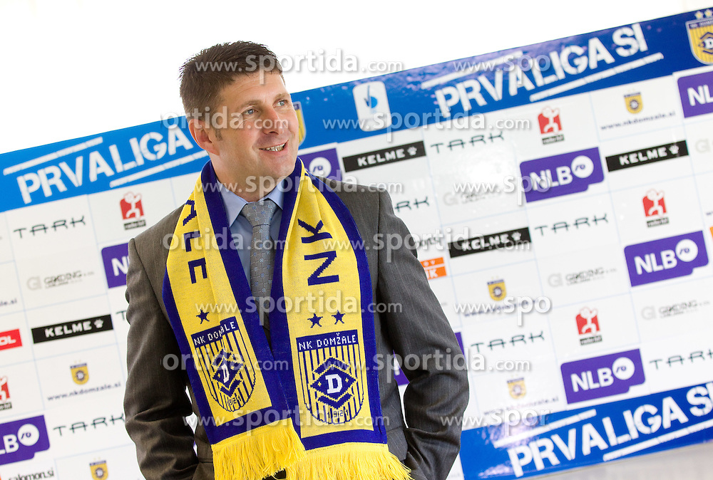 Stevan Mojsilovic of Serbia at introduction as a new coach of NK Domzale, on April 1, 2012, in Domzale, Slovenia. (Photo by Vid Ponikvar / Sportida.com)
