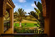 08-10-2015 -  Foto van Uitzicht op de Tikida Course bij Tikida Golf Palace in Agadir, Marokko. Tikida Golf Palace is een in Moorse stijl ingericht kleinschalig hotel met 54 kamers dat ligt aan de 18-holes Tikida Course van Golf du Soleil.